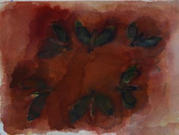 Uden titel. akvarel. 16X20 cm. Leif Hallström
