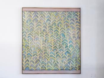 Ornamentik med kvist. Olie på lærred, 84x74 cm. Lis Bruun-Rasmussen