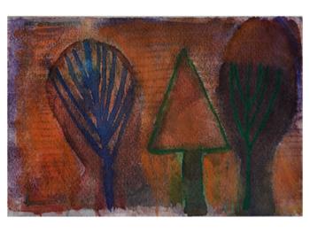 Uden titel. akvarel. 16X24 cm. Marit Beckmann