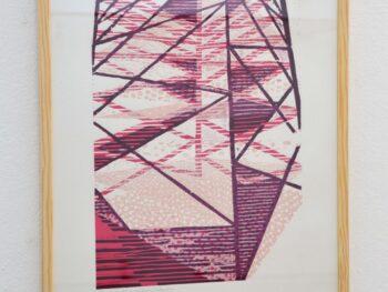 Eva Carstensen. Nu og Efter, 2020 træsnit på papir 62 x 44 cm